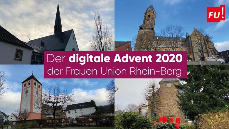 Der  digitale Advent 2020 der Frauen Union Rhein-Berg
